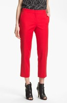 Vince Camuto Skinny Ankle Pants (Petite) Cherry 8P