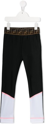 Fendi FF logo waistband track pants