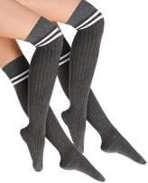 Even&Odd 2 PACK Overtheknee socks mid grey melange