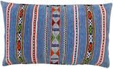 One Kings Lane Vintage Blue Striped Moroccan Pillow