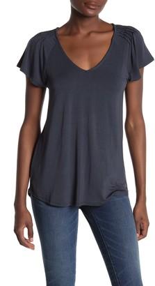 H By Bordeaux Short Sleeve Shoulder Pleat T-Shirt