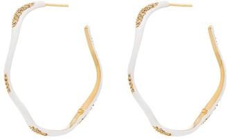 Joanna Laura Constantine Feminine Waves gold-plated hoop earrings