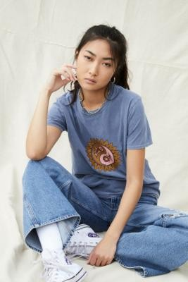 Urban Outfitters Harvest Sun T-Shirt - Green XS at