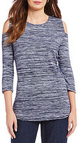 Allison Daley Cold-Shoulder Melange Jersey Tunic