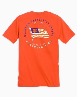 Southern Tide Clemson Tigers American Flag T-Shirt
