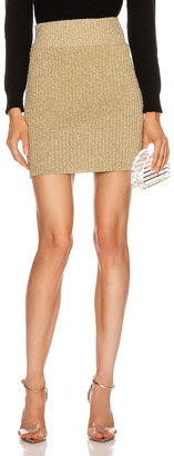 Alberta Ferretti Shiny Mini Skirt in Shiny Gold | FWRD