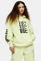 Topshop ESCAPOLOGY Lime Green Hoodie