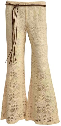 Eberjey Beige Cotton Trousers for Women
