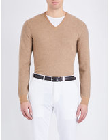 Ralph Lauren Purple Label Textured Cashmere Jumper