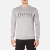 BOSS GREEN Men's Salbo Logo Sweatshirt Grey