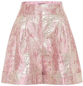 Dolce & Gabbana High-rise lame jacquard shorts