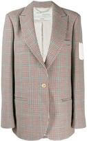 Off-White Off White check print blazer