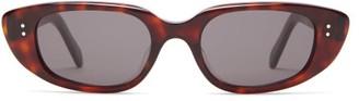 Celine Oval Acetate Sunglasses - Tortoiseshell