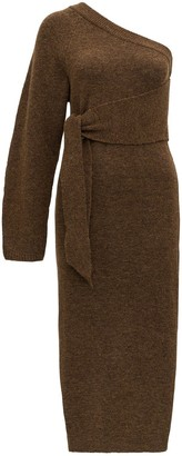 Nanushka One Shoulder Tie-Waist Dress