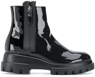 AGL Patent Ankle Boots