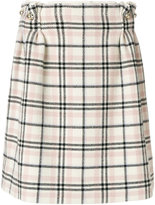 Carven checked mini skirt