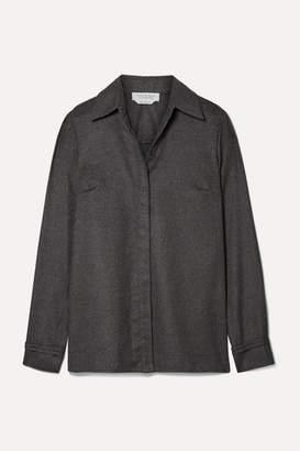 Gabriela Hearst Cruz Brushed-cashmere Shirt - Dark gray