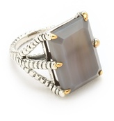 Bird Claw Ring with Grey Agate Stone
