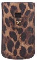Dolce & Gabbana Leopard-Print iPhone 4G Case w/ Tags