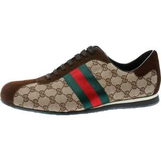 Gucci Beige Suede Trainers