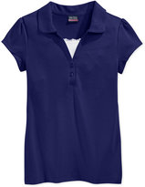 Nautica Uniform Layered-Look Polo Shirt, Plus Girls