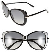 Tom Ford Women's 'Linda' 59Mm Sunglasses - Shiny Black