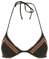 Topshop Crochet stitch triangle bikini top