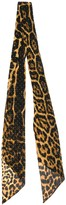 Saint Laurent leopard-print studded scarf