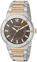 Salvatore Ferragamo Men's FIF040015 F-80 Analog Display Quartz Two Tone Watch