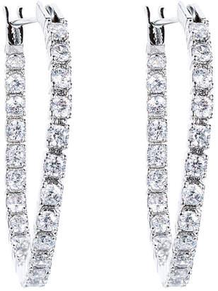 Eye Candy Los Angeles Eye Candy La Wedding Glam Huggy Cz Crystal Drop Earring