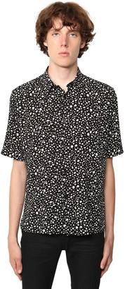 Saint Laurent S/S Leopard Print Viscose Shirt