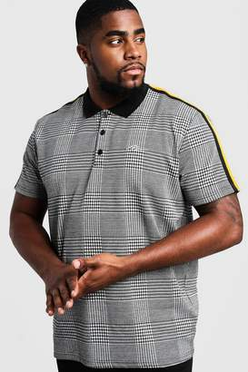 Big & Tall Check MAN Polo With Side Tape