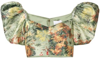Alice McCall Forest Print Puff Sleeve Top