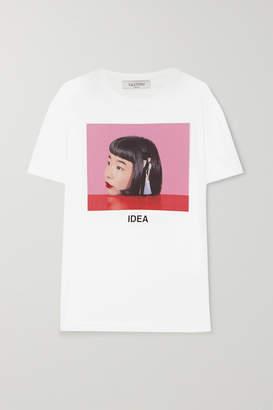 Valentino + Izumi Miyazaki Idea Printed Cotton-jersey T-shirt - White