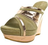 Very Volatile Supercharge Open Toe Leather Wedge Sandal.