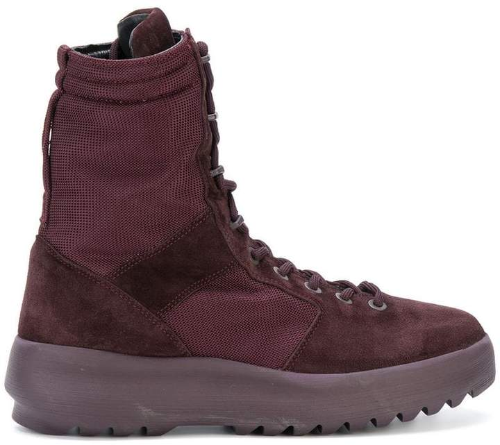 Yeezy suede panel military boots