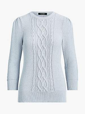 Ralph Lauren Ralph Tishari Cable Knit Jumper, Toile Blue