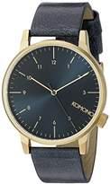 Komono Unisex KOM-W2251 Winston Regal Series Analog Display Japanese Quartz Blue Watch