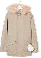 Yves Salomon Enfant teen faux-fur detailed parka