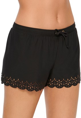 Apt. 9 Women's Laser-Cut Scalloped Cover-Up Shorts
