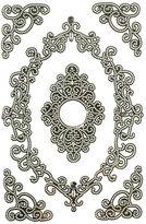 Martha Stewart Elegant Filigree Frames Black & Silver 3d Stickers