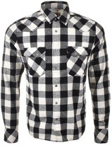 Nudie Jeans Long Sleeved Jonis Check Shirt White