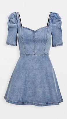 Alice + Olivia Maribel Puff Sleeve Denim Dress
