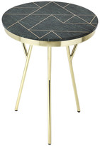 Butler Specialty Company Butler Haven Green Marble and Brass Accent Table