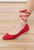 1 STATE 1.State Red Lace-up Flat