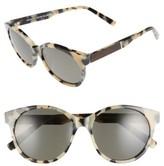 Shwood Women's Madison 54Mm Polarized Sunglasses - Cream/ Tortoise/ Elm/ Grey