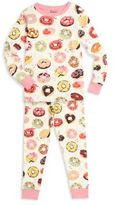 Hatley Toddler's, Little Girl's & Girl's Two-Piece Donut Printed Tee & Pants Pajama Set