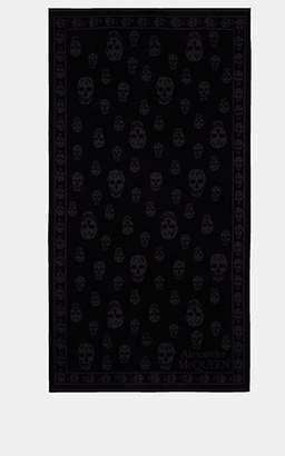 Alexander McQueen Skull-Motif Cotton Beach Towel - Black
