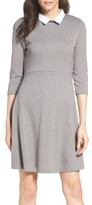 French Connection Women's 'Fast Fresh' Collared Jersey Fit & Flare Dress