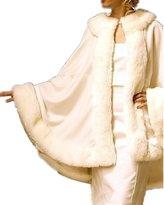 DreHouse Women's Winter Faux Fur Cloak Cape Fashion Princess Short Shawl